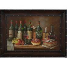 Wine & Fruit - Framed Oil