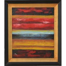 Striped Abstract - Framed Oil