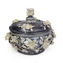 Pewter Garden Jewelry Box