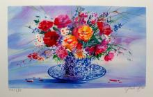 Claude Mars Spring Bouquet I Hand Signed Limited Edition Lithograph