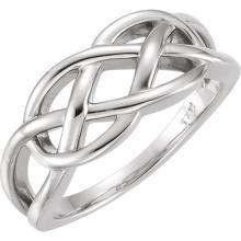 Platinum Knot Ring