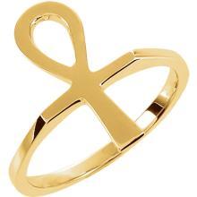 Platinum Ankh Ring