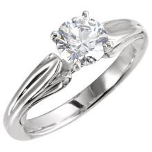14kt White 1/2 CTW Diamond Sculptural Engagement Ring
