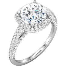 10kt White 1 1/5 CTW Diamond Engagement Ring