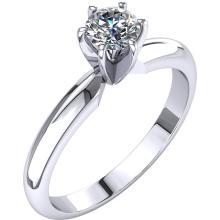 Platinum 1/3 CTW Diamond 6-Prong Light Solitaire Engagement Ring