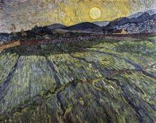 Vincent Van Gogh - Enclosed Field With Rising Sun, Saint-remy
