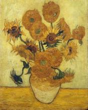 Vincent Van Gogh - Vase With Fifteen Sunflowers, 1889