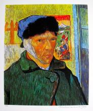 Vincent Van Gogh Self Portrait With Bandaged Ear Estate Signed Limited Edition Giclee