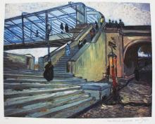 Vincent Van Gogh Trinquetaille Bridge Estate Signed Limited Edition Giclee