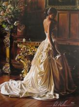 Rob Hefferan Lost In Thought Hand Signed Limited Edition Giclee On Canvas
