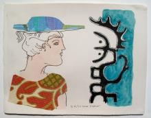 Max Papart Lady On The Sea Shore Hand Signed Limited Edition Etching