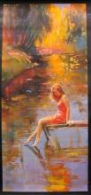 Irene Sheri Warm Reflections Hand Signed Limited Edition Giclee On Canvas