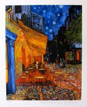 Vincent Van Gogh The Terrace Cafe Estate Signed Small Limited Edition Giclee