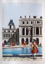 Jean Gradassi Memoirs Of Cardinal Dubois 1950 Color Illustration Limited Edition #15