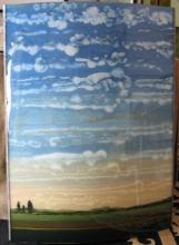 Original-Robert Charon-Blue Skies (mounted)