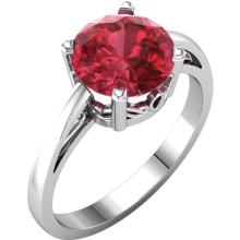 14kt White Chatham® Created Ruby Ring