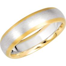 Continuum Silver & 14kt Yellow 6mm Two Tone Comfort Fit Band Size 11