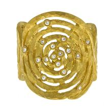 14Kt Yellow Textured Ring