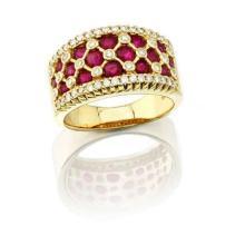 18K YELLOW GOLD 10.3 GRAM 1.62CT DIAMOND SI2-I1 H-I 3.35CT ROUND