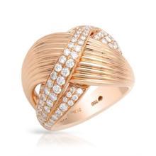 RING...18K ROSE GOLD 19.2 GRAM 1.35CT DIAMOND VS G