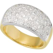14kt Two-tone 1 Ctw Diamond Micro Pave Ring Size 7