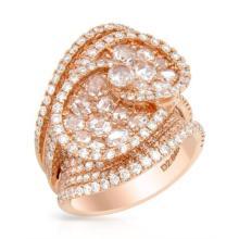 RING...18K ROSE GOLD 2.72 GRAM 1.58CT DIAMOND VS G 2.63CT DIAMOND