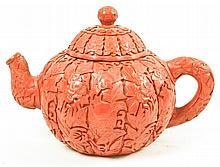 Cinnabar Teapot, w/black interior