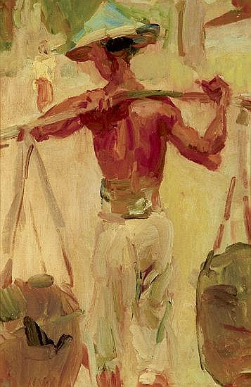 Isaac Israels (1865-1934) Water Carrier Oil on