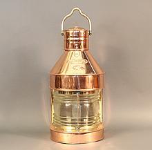 Ship's Masthead Lantern, Solid Copper