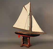 Vintage Pond Yacht of a Sloop