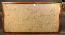 1846 Chart of the English Channel by Blunt