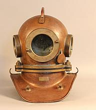 Copper and Brass Hard Hat Dive Helmet