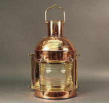 Incredibly Large Copper Masthead Lantern