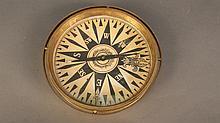 19th century brass compass