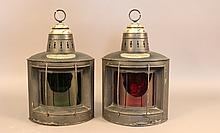 Steel port and starboard ship lanterns