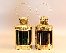 Brass port and starboard lanterns