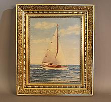 Arthur Diehl yachting painting