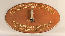 Launching relic from U.S.S. Satterlee