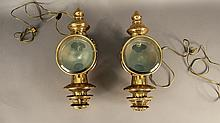 Pair of 19th century carriage lamps