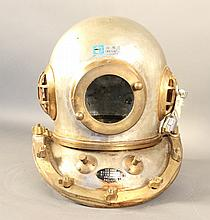 Authentic hard hat diving helmet