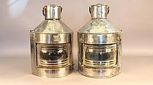 Steel port and starboard lanterns
