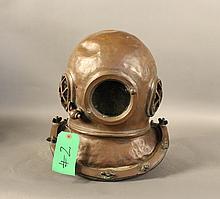 Replica diving helmet cast from resin
