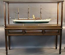 """Cased Model of the American steam yacht """"Aphrodite"""