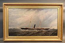 Elisha Taylor Baker Painting of Yacht