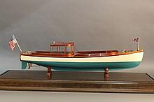 Launch model from JP Morgan's steam yacht