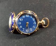Blue Enamel Pendant or Pocket Watch (Woman's)