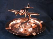 Copper 2 Engine Private Plane Ashtray