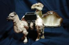 2 Camels Figurines; one Marked Simmons