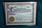 Framed Pierce Arrow Stock Certificate