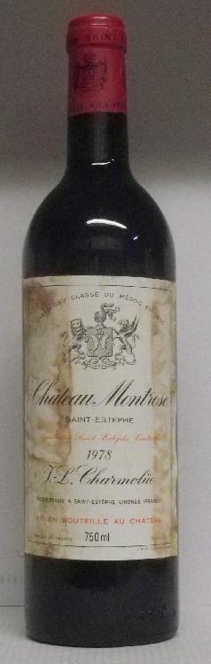 1 Bouteille MONTROSE étiquette tachée, légèrement abîmée.  Labels stained, slightly damaged.  1978